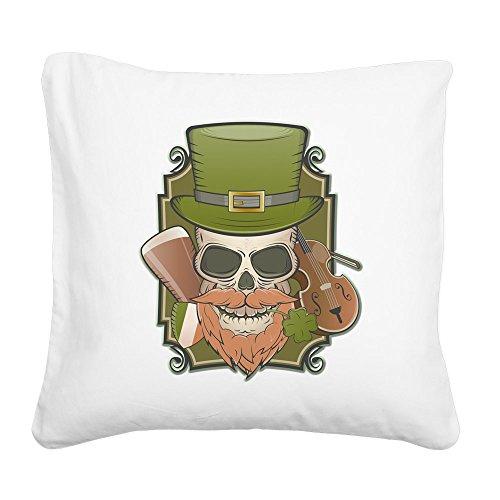 Square Canvas Throw Pillow Natural St Patricks Irish ()