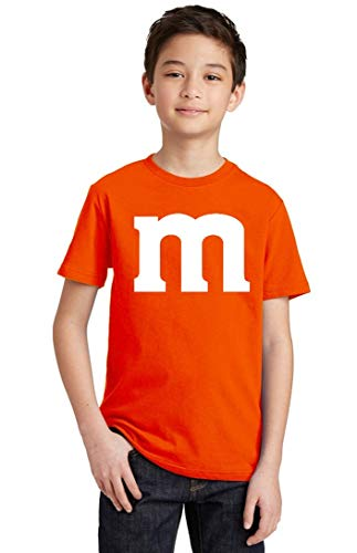 Promotion & Beyond M Halloween Team Costume Funny Party Youth T-Shirt, Youth L, Orange -