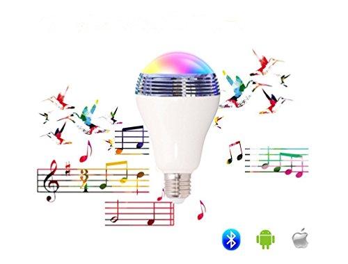 La lampadina musicale intelligente E27 ha condotto la luce di Bluetooth 4.0 Speaker Controllo audio RGB colore - APP libero controllato