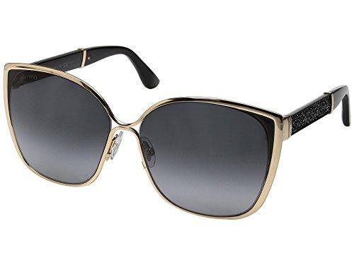 Jimmy Choo Women's Maty/S Gold/Black/Glitter/Dark Gray Gradient Lens One - Sunglasses Jimmy Glitter Choo