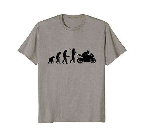 Mens Superbike TShirt Funny Evolution Sports Bike Rider XL (Bike Evolution T-shirt)