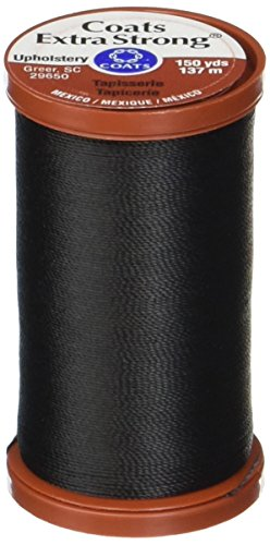 (COATS & CLARK Extra Strong Upholstery Thread, 150-Yard, Black )