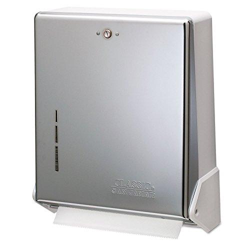 San Jamar T1905XC True Fold C-Fold/Multifold Paper Towel Dispenser Chrome 11 5/8 x 5 x 14 1/2 by San Jamar (Image #1)