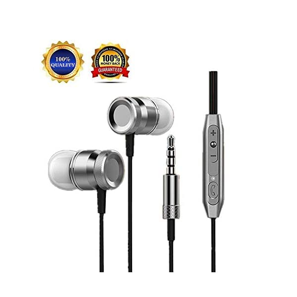 Earbuds Ear Buds in Ear Headphones Wired Earphones with Microphone Mic Stereo and Volume Control Waterproof Metal Wired Earphone for