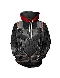WenShen's store Marvel Avengers Endgame Hoodie Superhero Cosplay Sweatshirt Logo 3D Digital Print Jacket Couple Apparel