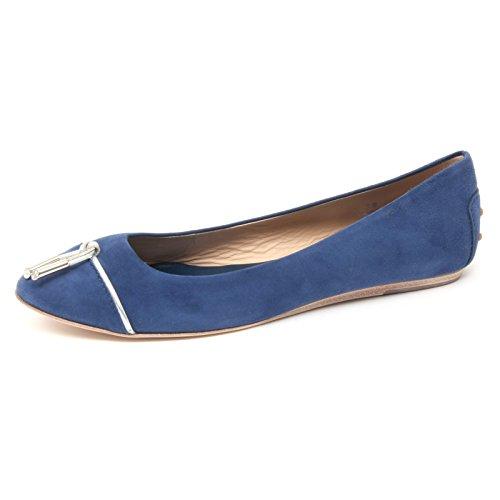 TOD'S blu woman B4433 ballerina Blu scarpa laccetto donna shoe SwZgAXqEfg