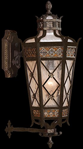 Fine Art Lamps 404381, Chateau Outdoor Wall Sconce Lighting, 60 Total Watts, Patina - Chateau Rustic Sconce