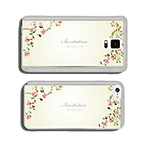 invitation cards with foliate ornament and flowers. watercolor p cell phone cover case iPhone6