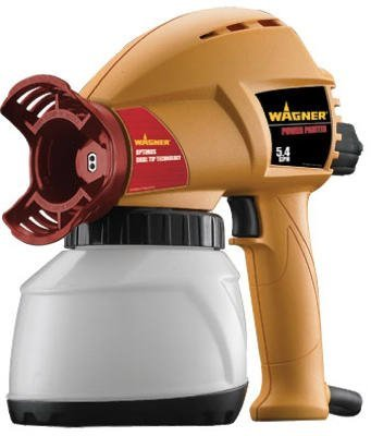 Wagner Spray Tech 525037 Power Paint Sprayer, 5.4 GPH, 10.56'' x 10.56'' x 5.63''