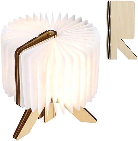 Fockety Night Lamp, Book Shaped Lamp, R-Shaped Desktop Portable Reading Light for Bedroom Lighting Decoration Home