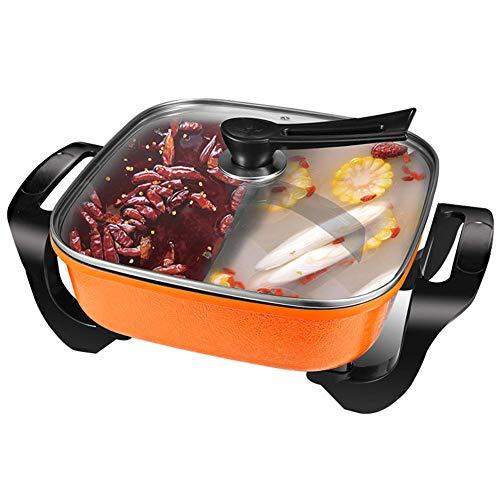 Fondue Hot Pot parrilla eléctrica, Naranja modernos para el ...