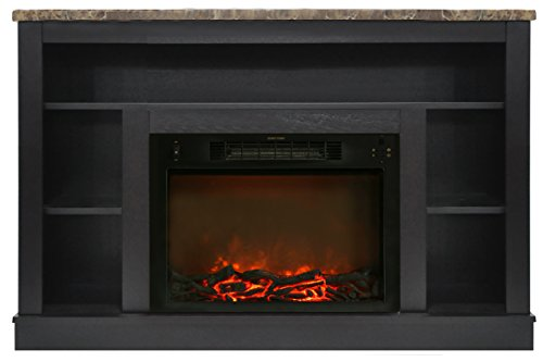 faux marble electric fireplace - 1