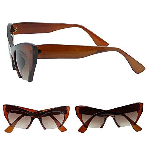 Best-topshop Women's Leopard Cat Eye Sunglasses Retro - Topshop Eye Sunglasses Cat