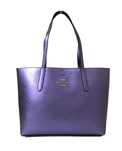 (Coach Avenue Tote Metallic Periwinkle/Light Purple)