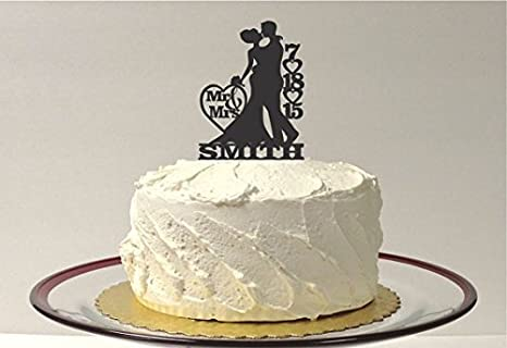 Amazon Com Made In The Usa Personalized Wedding Cake Topper With