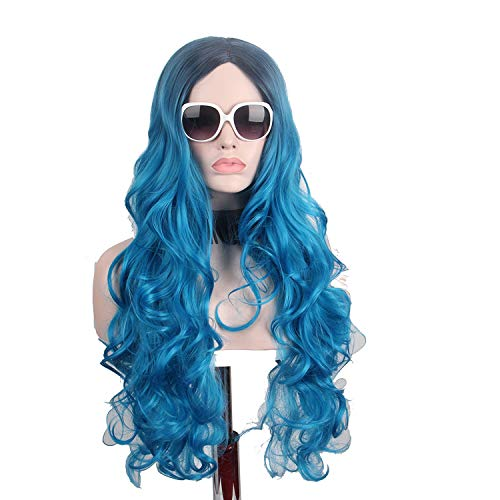 Long Wigs for Black Women Black Root Hairs Big Wave Cosplay Cos Halloween Costumes,26inches