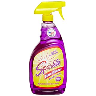 A J Funk & Co 20345 Sparkle Glass Cleaner, Original Purple Formula, 33.8-Ounce Trigger Bottle - Pack of 12