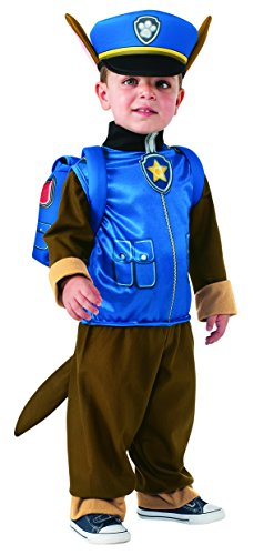 [Rubie's Costume Toddler PAW Patrol Chase Child Costume, One Color, Small] (Tv Movie Childrens Costumes)