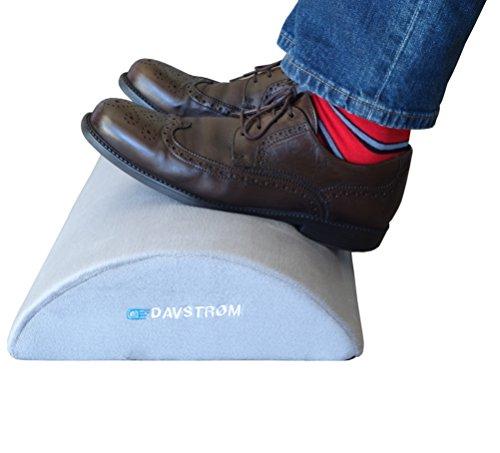 Foot Rest Under Desk Cushion – New Davstrom Ergonomic Footrest Pillow - Home Office Travel. Hidden No-Scratch Zip, No-Slip, High Resiliency Super Comfort Foam Design, Optimum Leg Clearance. Great Gift by DAVSTROM