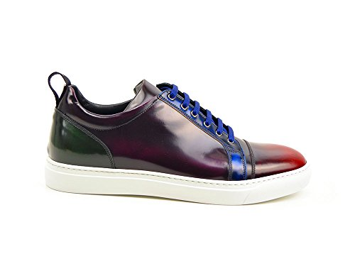 Dis Pietro - Sneakers Bassa Pelle Multicolore Abrasivata La Tua In Abrasivata 100 Made Italy E Personalizzabile