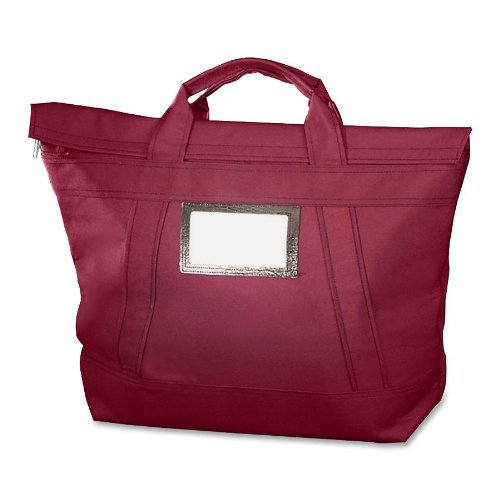 MMF Industries Fire-Guard Locking Courier Bag, 18''H x 18''W x 7''D, Burgundy by Major Metalfab Co.