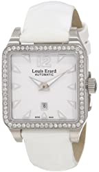 "Louis Erard Women's 20700SE01.BDV61 ""Emotion"" Diamond-Accented Watch with White Leather Band"