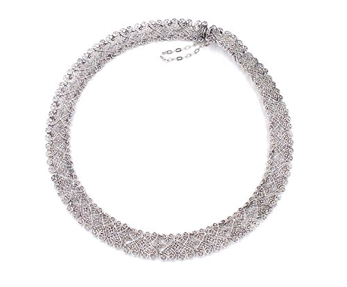 ''Heart Link Lace'' Sterling Silver Necklace by Heritage Museum Jewelry Replicas… by Hertiage Museum Replicas