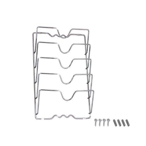 Kitchen DecoBros Wall Door Mounted Pot Lid Rack, Chrome Finish pot lid holders