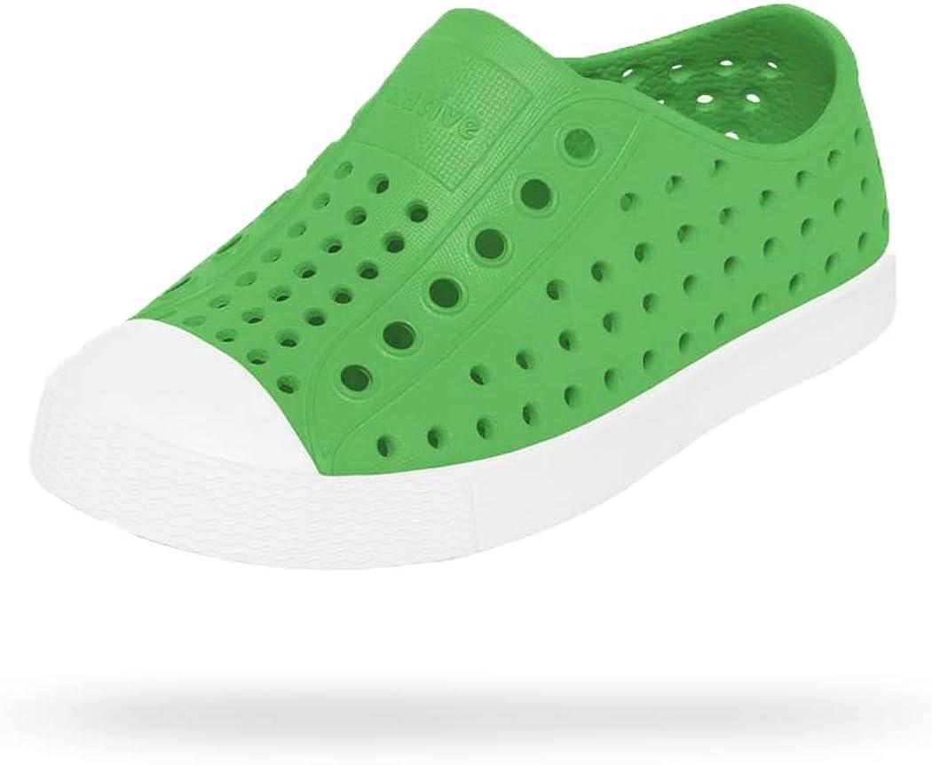 Native Shoes, Jefferson Child, Kids Lightweight Sneaker, Grasshopper Green/Shell White, 12 M US Little Kid