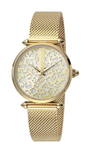 Just Cavalli JC1L085M0065 316L Stainless Steel Mineral Crystal Deployment Buckle Watch