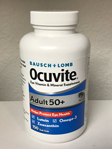 Bausch Lomb Ocuvite Lutein (Bausch & Lomb Ocuvite Adult 50+ Eye Vitamin & Mineral Supplement - 150 Softgels)