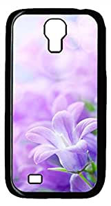 Samsung Galaxy S4 I9500 Black Hard Case - Romantic Pink Flowers Galaxy S4 Cases
