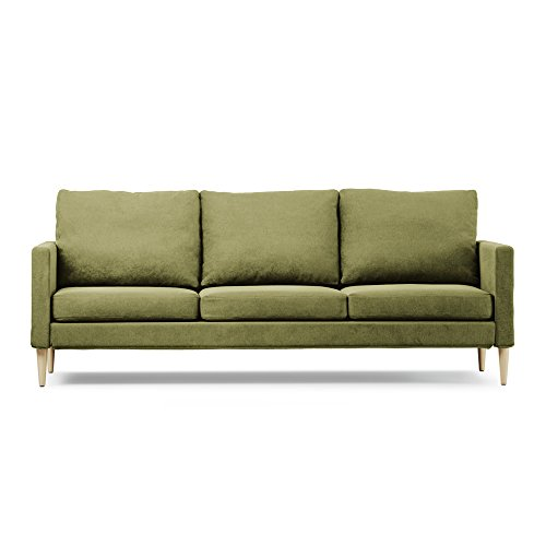 Campaign CL3100-D107523-051 Natural Maple Sofa, 86 Inches, Sprouted Green Solid Maple Futon