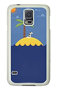 Samsung Galaxy S5 Cases & Covers - Dog On An Island PC Custom Soft Case Cover Protector for Samsung Galaxy S5 - White