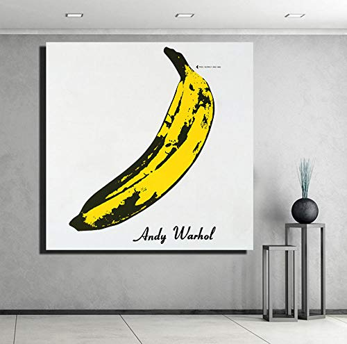 sasdasld Canvas Prints Poster Home Decor 1 Piece Hand Draw Andy Warhol Banana Painting Pop Big Pictures for Living Room Wall Art Framed-60x90CM with Frame/NO Frame Andy Warhol Flower Prints