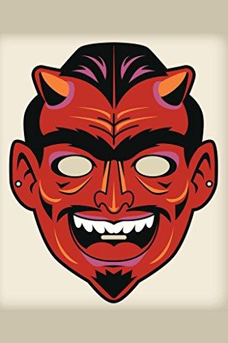 Devil Satan Vintage Mask Decoration or Halloween Costume Cutout Poster 24x36 inch ()