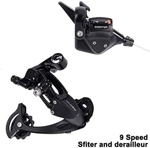 TLBBJ Bicycle Transmission Bicicleta MTB 1X9 9S Velocidad 40T Cassette Shifter Cambio Trasero Groupset de Piezas M370 M430 M590 Sistema de bielas Sola DEORE Bicycle Accessories (Color : 1x9S Shifter): Amazon.com.mx: Hogar y Cocina