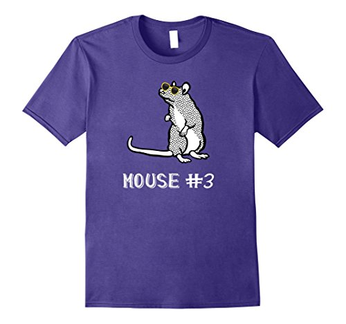 Mens Mouse #3 Halloween Costume Tee Shirt 2XL - 3 The Mice Costume Blind