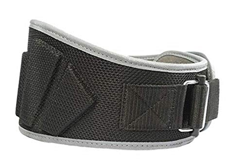 Fire Team Fit Weightlifting Belt, Olympic Lifting, Weight Belt, Weight Lifting Belt for Men and Women, 6 Inch, Back Support for Lifting (Black/Grey, 30