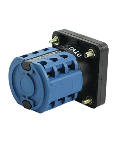 uxcell Square Panel Mounting 2-Position 3-Phase Rotary Changeover Switch CA10 by uxcell (Image #1)