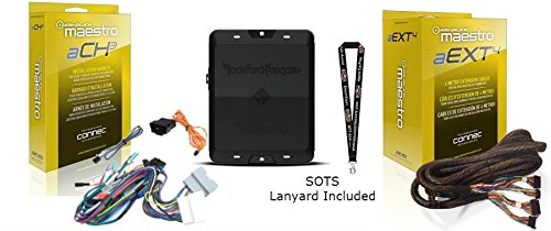 Rockford DSR1 8-Channel Interactive Signal Processor w/ Integrated Module & ADS HRN-AR-CH3 Vehicle-specific amplifier replacement harness HRN-AR-EXT2 2-Meter Extension Cable & SOTS Lanyard