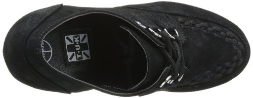 Tuk Creeper Platformhiel Damen Pumps Zwart - Noir (zwart Met Zwarte Interlace)