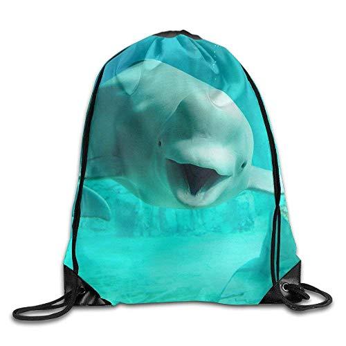 55b79ddc0ab Drawstring Bag Gym Bag Travel Backpack, Dew Drops Ladybug, L