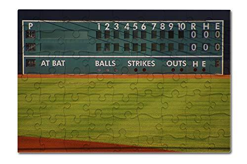 (Baseball Field Scoreboard Photography A-89887 (8x12 Premium Acrylic Puzzle, 63 Pieces))