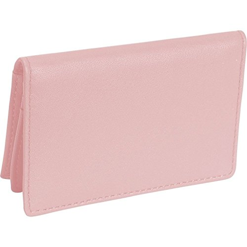 Royce Leather Deluxe Card Holder (Carnation Pink)