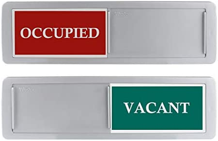 Privacy Sign Premium Vacant Occupied Sign For Home Office Restroom Conference Hotles Hospital Slider Door Indicator Tells Whether Room Vacant Or Occupied 7 X 2 Silver Amazon Com Au Office School Supplies