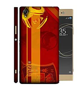 ColorKing Football Spain 08 Red shell case cover for Sony Xperia XA1 Plus