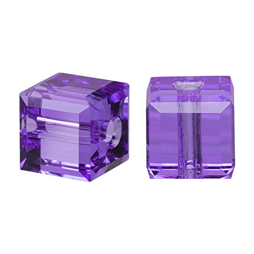 Swarovski Crystal, 5601 Cube Beads 4mm, 10 Pieces,