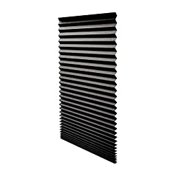 Redi Shade 1617201 Black Out Pleated Shade 36-by-72-Inch, 2 Packs of 6