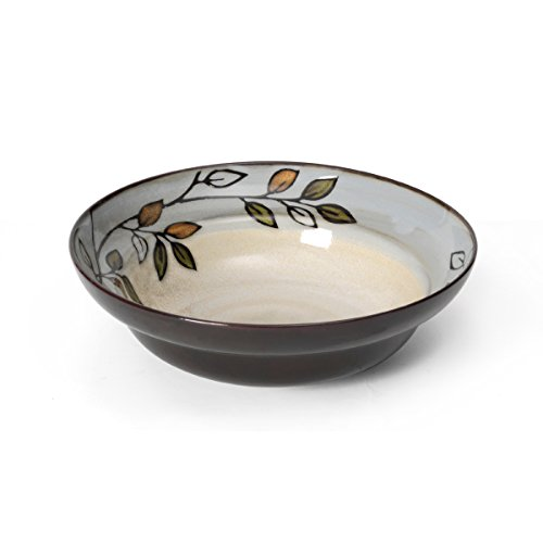 Leaf Vegetable Bowl - Pfaltzgraff Rustic Leaves Round Vegetable Bowl (9-1/2-Inch)